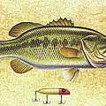Antique Lure And Bass by JQ Licensing