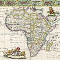 Antique Map Of Africa by Dutch School