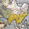 Antique Map Of Asia by Claes Jansz