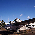 Antique Navy Seaplane Parked In Front by Michael Wood
