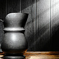 Antique Pewter Pitcher by Olivier Le Queinec