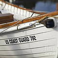 Antique Us Coast Guard Boat by Cheryl Butler