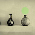 Antique Vases Still Life Altered I by Kathleen Grace