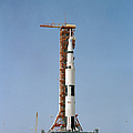 Apollo 10 Space Vehicle On The Launch by Stocktrek Images
