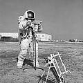 Apollo 13 Astronaut Walks by Stocktrek Images