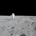 Apollo 14 Astronaut Makes A Pan by Stocktrek Images