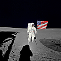 Apollo 14 Astronaut Stands by Stocktrek Images