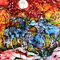 Appaloosas On A Fiery Night by Carol Law Conklin