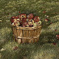 Apples In Basket by Mary Ann King