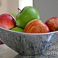 Apples In Fruit Bowl by Carol Groenen