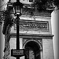 Arc De Triomphe - Black And White by Carol Groenen