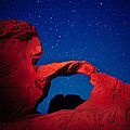 Arch In Red And Blue by Rick Berk