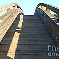 Arched Pedestrian Bridge At Martinez Regional Shoreline Park In Martinez California . 7d10526 by Wingsdomain Art and Photography