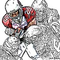Arizona Cardinals Chester Taylor Seattle Seahawks David Hawthorne Clinton Mcdonald And Red Bryant by Jack K