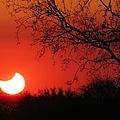 Arizona Eclipse At Sunset by Michelle Cassella