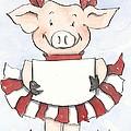 Arkansas Razorback Cheer Piggy by Annie Laurie