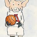 Arkansas Razorbacks - Basketball Piggie by Annie Laurie