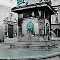 Arles Fountain With A Spot Of Color by Greg Matchick