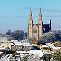Armagh Cathedral In The Snow by Chris Hill