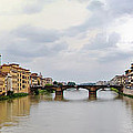 Arno River In Florence Italy by Roger Mullenhour