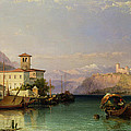 Arona And The Castle Of Angera Lake Maggiore by George Edwards Hering