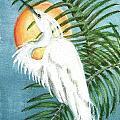 Art Deco Egret by Sue Lewis