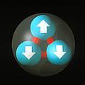 Art Of A Neutron Showing Constituent Quarks by Laguna Design
