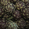 Artichokes At A Market In Provence by Nicole Duplaix