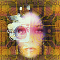 Artificial Intelligence: Face And Circuit Board by Mehau Kulyk