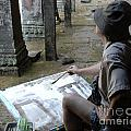 Artist At Ankor Wat by Bob Christopher