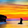 Artistic Conception Eagle Sundown by Randall Branham