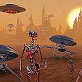 Artists Concept Of Life On Mars Long by Mark Stevenson