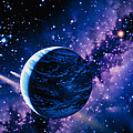 Artwork Of Comets Passing The Earth by Joe Tucciarone