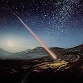 Artwork Of Meteorite Hitting The Ground by Chris Butler