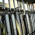 Assault Rifles Stand Ready by Stocktrek Images