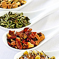 Assorted Herbal Wellness Dry Tea In Spoons by Elena Elisseeva
