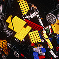 Assorted Lego Bricks And Cogs. by Volker Steger