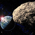 Asteroid Approaching Earth by Roger Harris