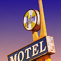 Astro Motel Retro Sign by Kathleen Grace