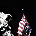 Astronaut Stands Next To The American by Stocktrek Images