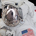 Astronauts Helmet Visor by Stocktrek Images