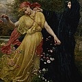 At The First Touch Of Winter Summer Fades Away by Valentine Cameron Prinsep