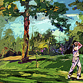At The Golf Course Vintage Golfers by Ginette Callaway