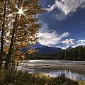 Athabasca River With Mount Fryatt by Dan Jurak