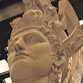 Athena Sculpture Sepia by Linda Phelps
