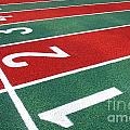 Athletic Track Markings With Numbers by Yali Shi