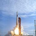 Atlas Agena Target Vehicle Liftoff by Stocktrek Images