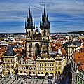Atop The Clock Tower - Prague by Jon Berghoff