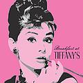 Audrey Hepburn - Pop Art Portrait by Martin Deane
