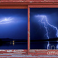 August Storm Red Barn Picture Window Frame Photo Art View by James BO Insogna